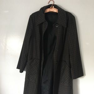 Vintage Mid Century Plaid Overcoat